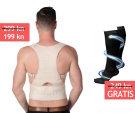Back support belt (L-XL) + compression stockings (L-XL) gratis